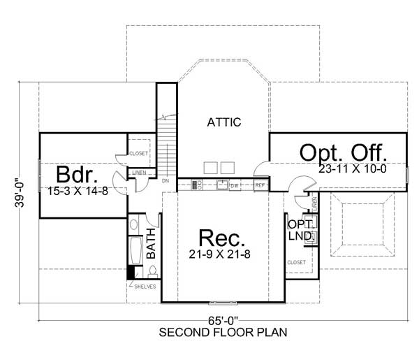 2nd Floor Plan image of Featured House Plan: BHG - 7156